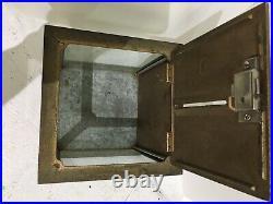 Antique Original Condition NATIONAL CASH REGISTER Glass and Metal Receipt Box