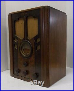 Antique Pre WWII 1938 Philco Tombstone Radio Model 38-60