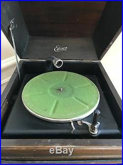Antique Rare Edison Record Player Phonograph Wind Up Crank P/U NY Thick Records