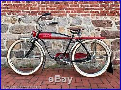 Antique Roadmaster Luxury Liner Cruiser Bicycle CWC Vintage Balloon Tank Bike