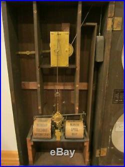 Antique Seth Thomas No. 2 Office Calendar Clock Weight Driven Wall/shelf Big