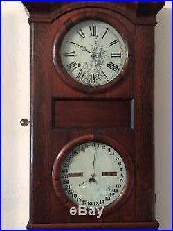 Antique Seth Thomas Parlor Calendar Clock 1863