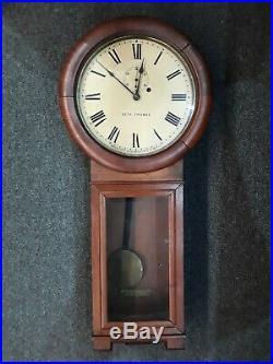 Antique Seth Thomas Regulator Wall Clock Circa Early 1900's