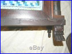Antique Silas Hoadley short drop wooden works clock