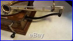 Antique Standard Talking Machine Style X Phonograph Red Horn Plays Well
