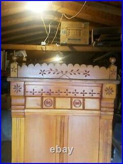 Antique Victorian Bath Tub Encased In Pine Wood, Cowboy, Old West, Brothel, Mus