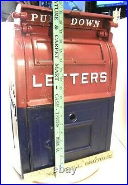 Antique Vintage 1948 Us Mail Cast Iron Mailbox Letter Box Bridgeport Castings Co