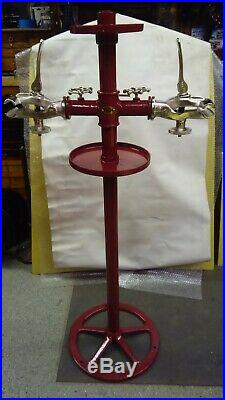 Antique Vintage ELDI Cast Iron Bicycle Repair Stand, Double Sided Display Stand