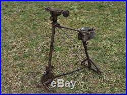 Antique Vintage Old Tools Knife Sharpener Blacksmith Grinder Foot Pedal Crank
