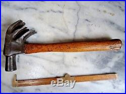Antique Vintage Unusual TRIPLE CLAW HAMMER