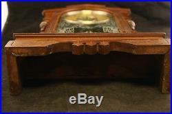 Antique W L Gilbert Wood Mechanical Biller Pendulum Clock