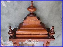 Antique Waterbury 52.5 Very Large Wood Case Wall Clock
