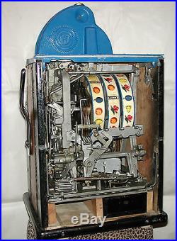Antique Watling Rol-A-Top Coin Front 10c Slot Machine Gold Plated Front