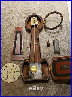 Antique Working 1840's HORACE TIFT Weight Driven Early American Banjo Wall Clock