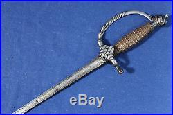 Antique beautiful European smallsword (court sword) Mid 18th