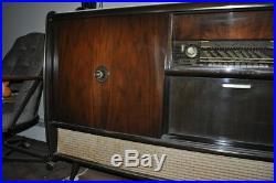 Antique midcentury Blaupunkt vintage record player shortwave radio bar