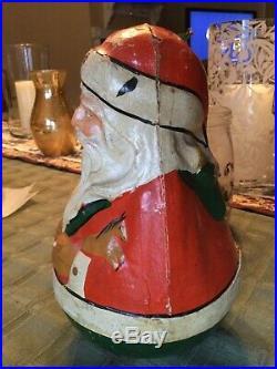 Antique schoenhut dolls santa roly poly paper mache