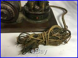 Atwater Kent Type 10A TA Antique Tube Radio Breadboard Style 20s RARE