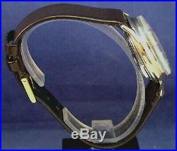Bulova Accutron 214 Spaceview custom 10k GF/ss watch with new leather strap 1967