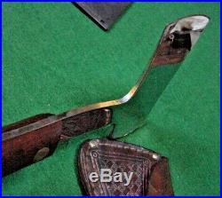 CASE Tested XX HATCHET Vintage Hunting Antique Belt Axe Knife Basketweave Sheath