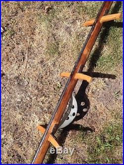Chicago Fire department, wood pompier ladder, scaling ladder, antique fire item