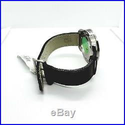 Collectible Rare Vintage Designer Swiss Army Watch Round Face Leather Band