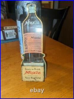 Extremely Rare Antique Moxie Advertising Sign match holder