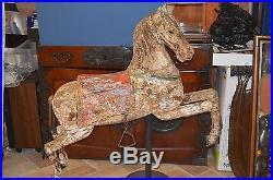 Full Size Antique 19th Century Carousel Horse Original Paint