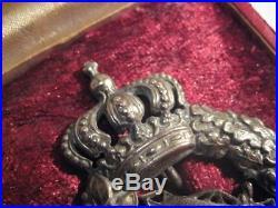 German WWI air force bavarian pilot medal antique badge rare in case Poellath