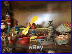 Huge Lifelong Antique Toy Collection Mechanical Banks, Tin Toys, Buddy L Trucks
