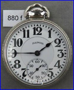 Illinois Bunn Special 21J 60 Hour Railroad Pocket Watch, ORIGINAL