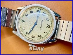JAEGER LeCOULTRE 1940s WWII WRISTWATCH CAL P. 478 Rare and Collectible S Steel