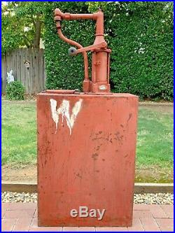 Large Antique Oil Pump The Phillips & Tank Co. Lubester Dispenser Vintage Old
