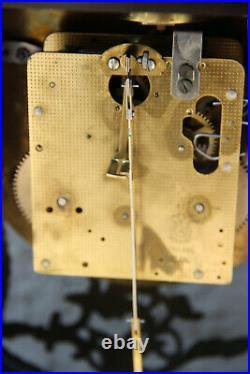 Large Boulle Cartel Mantel clock medusa head bronze ornaments
