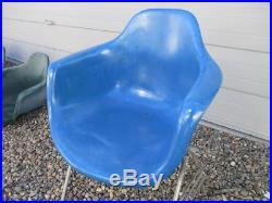 MCM MID Century Modern Fiberglass Shell Chair Krueger Eames Style Multiples