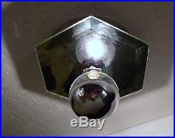 MID Century Beveled Mirror Frederick Raymond Wall Sconce Flush Mount Light Lamp