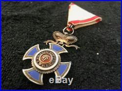 MONTENEGRO ORDER OF DANILO WWI ordre orden medal old antique serbia yugoslavia