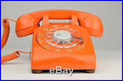 Meticulously Restored & Working Vintage Antique Telephone Bright Orange 500