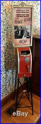 Mutoscope Vintage Movie Machine Antique Charlie Chaplin Reel Penny Arcade