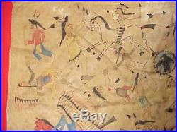 Native American Muslin LEDGER ART SIOUX RESERVATION