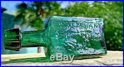 Open Pontil C. W. MERCHANT Lockport N. Y. Antique Medicine Bottle A BEAUTY