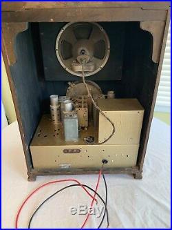 Original 1936 Zenith 6v27 6s27 Antique Vintage Tombstone Tube Radio