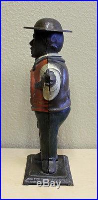 Original Antique 1870 Waterbury Sambo Banjo Player Blinking Eye Clock Case