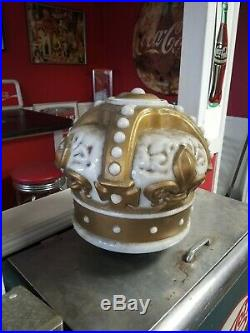 Original Antique Authentic Standard Oil Gold Gas Pump Crown Globe Vintage
