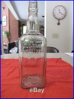 Quart Jack Daniels Sour Mash Whiskey Rare 1895 Antique Bottle Belle of Lincoln