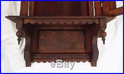 RARE Old Antique 8 Day INGRAHAM GARLAND Oak Regulator WALL CLOCK -RUNS