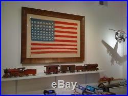RARE VINTAGE 1930s Native American Navajo 48 Star Flag Blanket Museum NO FRAME
