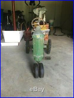 RARE Vintage Antique Eska John Deere Pedal Tractor Toy Model 130 withtrailer