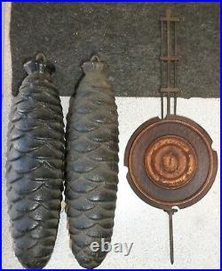 Rare Antique Black Forest Gordian Hettich Musical Bahnhausle Inlay Cuckoo Clock