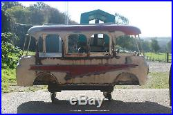 Rare French Carousel Bus Ride Vintage Fairground Antique c1950 Folk Art